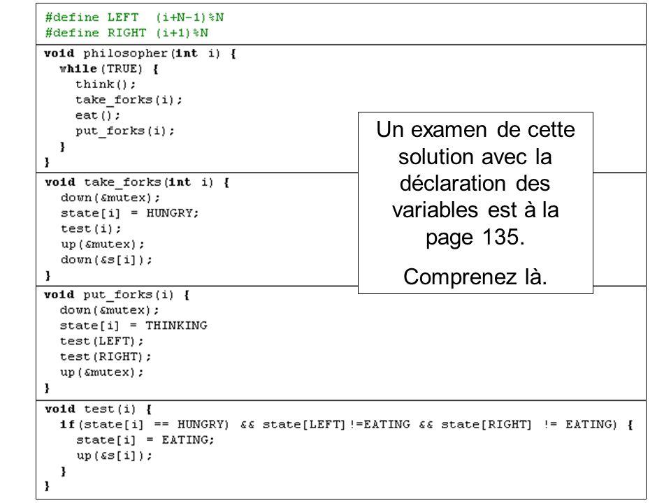 Un examen de cette solution avec la déclaration des variables est à la page 135. Comprenez là.