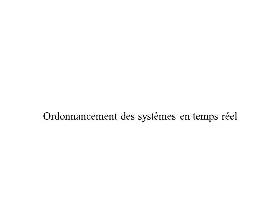 Ordonnancement des systèmes en temps réel