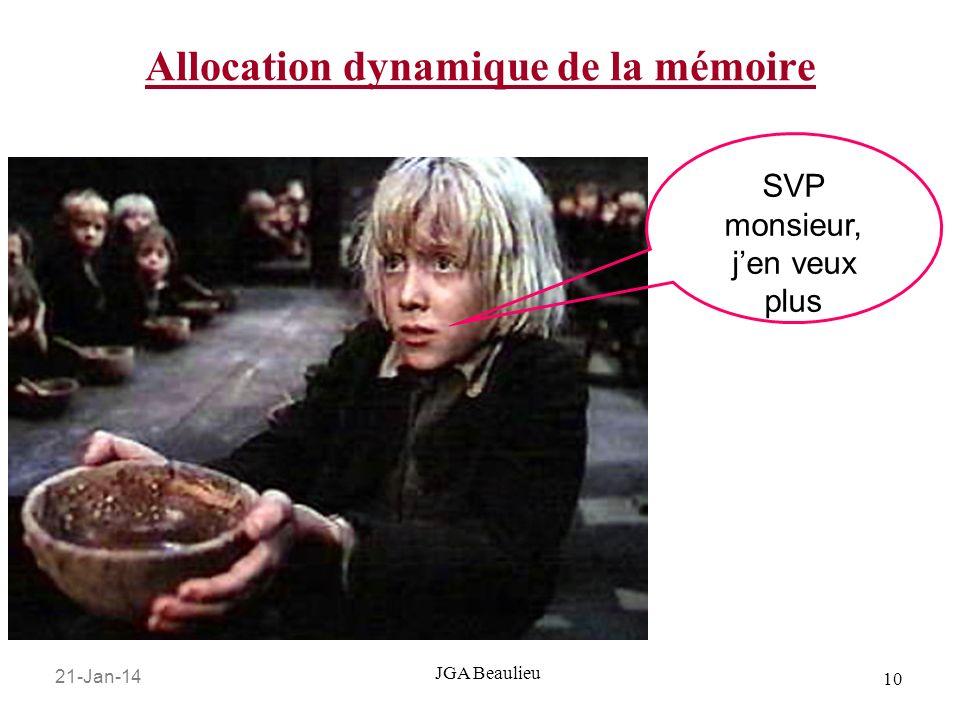 21-Jan-14 10 JGA Beaulieu Allocation dynamique de la mémoire SVP monsieur, jen veux plus