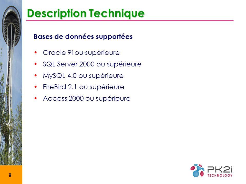 10 Environnement de développement Description Technique Visual Basic 6.0 Power AMC 11 Crystal Reports 8.5 Wise Installer 7.0 SP1