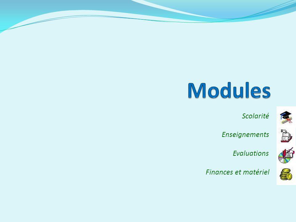 Scolarité Enseignements Evaluations Finances et matériel