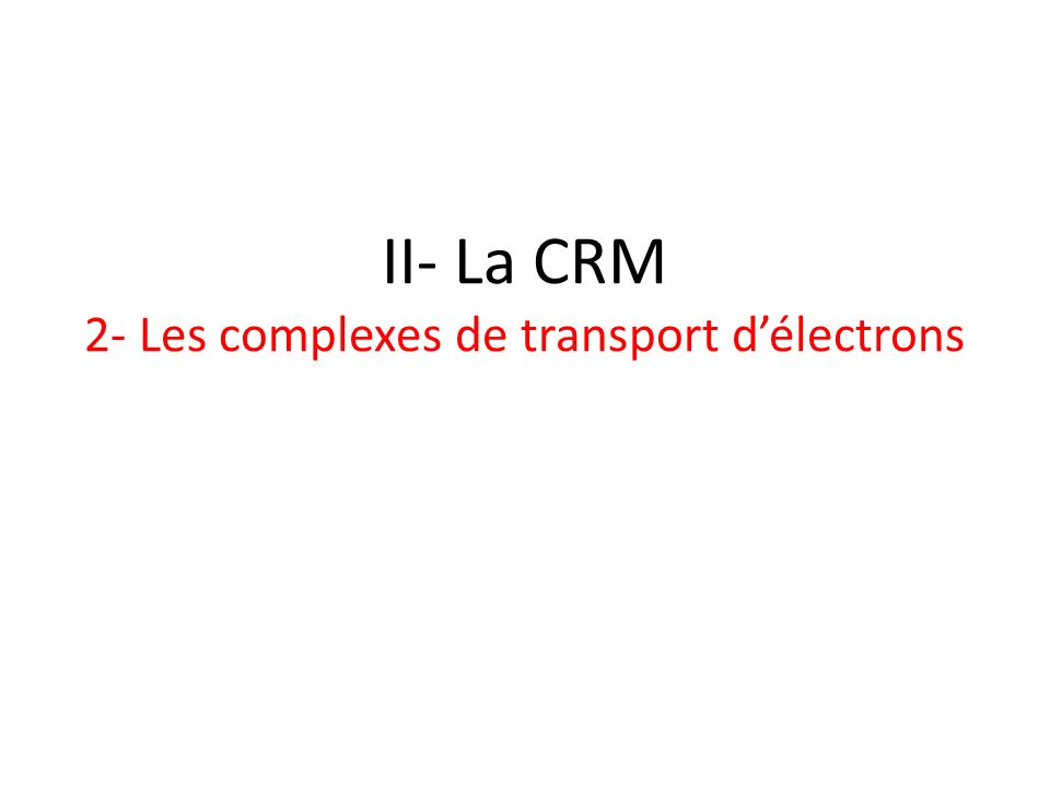 4- Régulation de la CRM