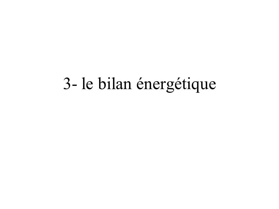 3- le bilan énergétique