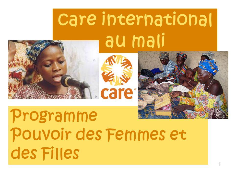 1 care international au mali Programme Pouvoir des Femmes et des Filles