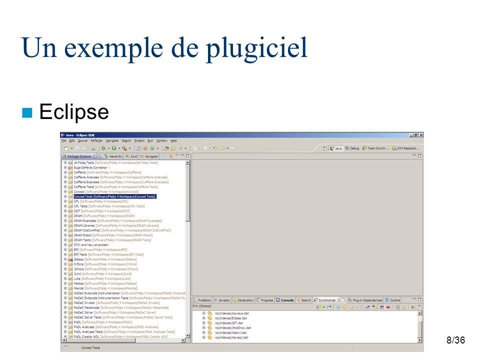 29/36 OSGi Services denregistrement [http://www.eclipsezone.com/articles/extensions-vs-services/images/extensions.png]