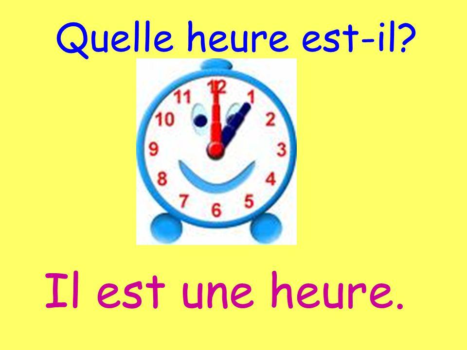 Quelle heure est-il? Il est (next hour) moins (minutes). To say 10 til... 15 til...