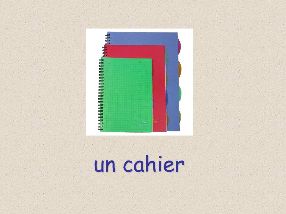 un cahier