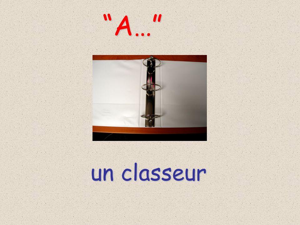 un classeur A… A…