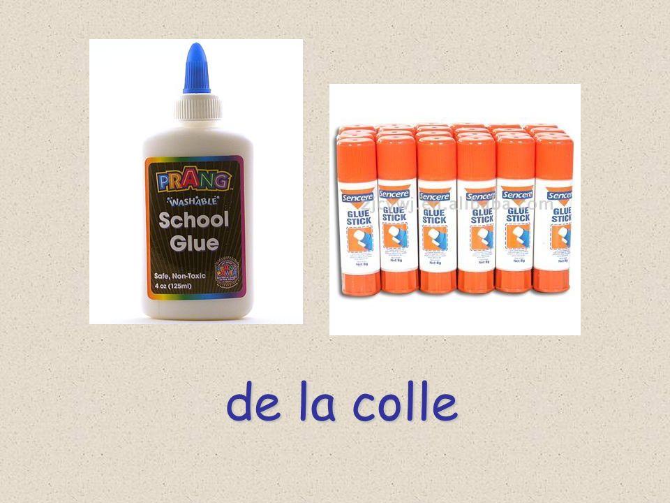 des crayons colorés (m.) (m.)