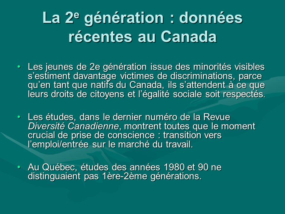 Jeunes dorigine haïtienne Première et seconde générationPremière et seconde génération –Trois vagues migratoires dhaïtiens, depuis les années 60.