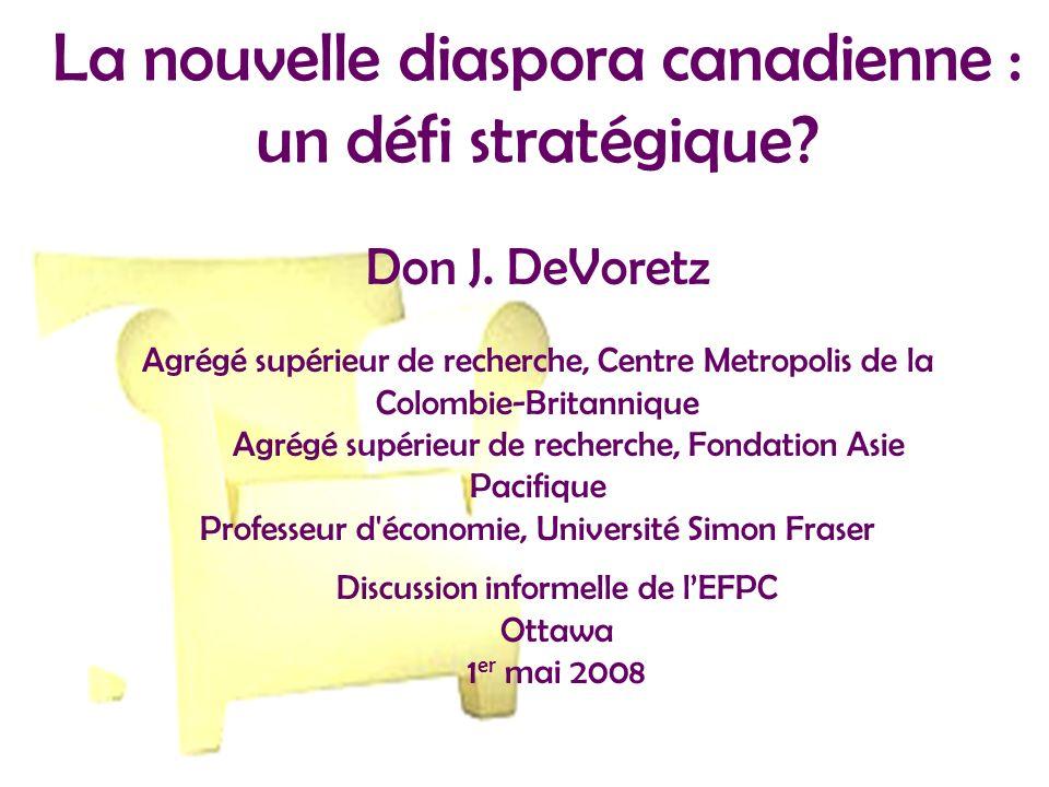 La nouvelle diaspora canadienne : un défi stratégique.