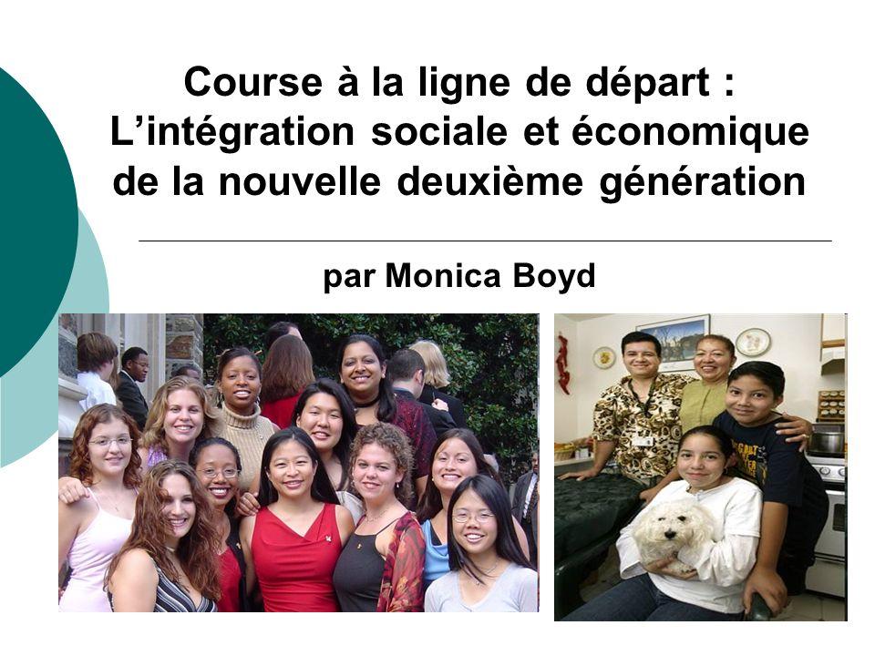 Course à la ligne de départ : Lintégration sociale et économique de la nouvelle deuxième génération par Monica Boyd