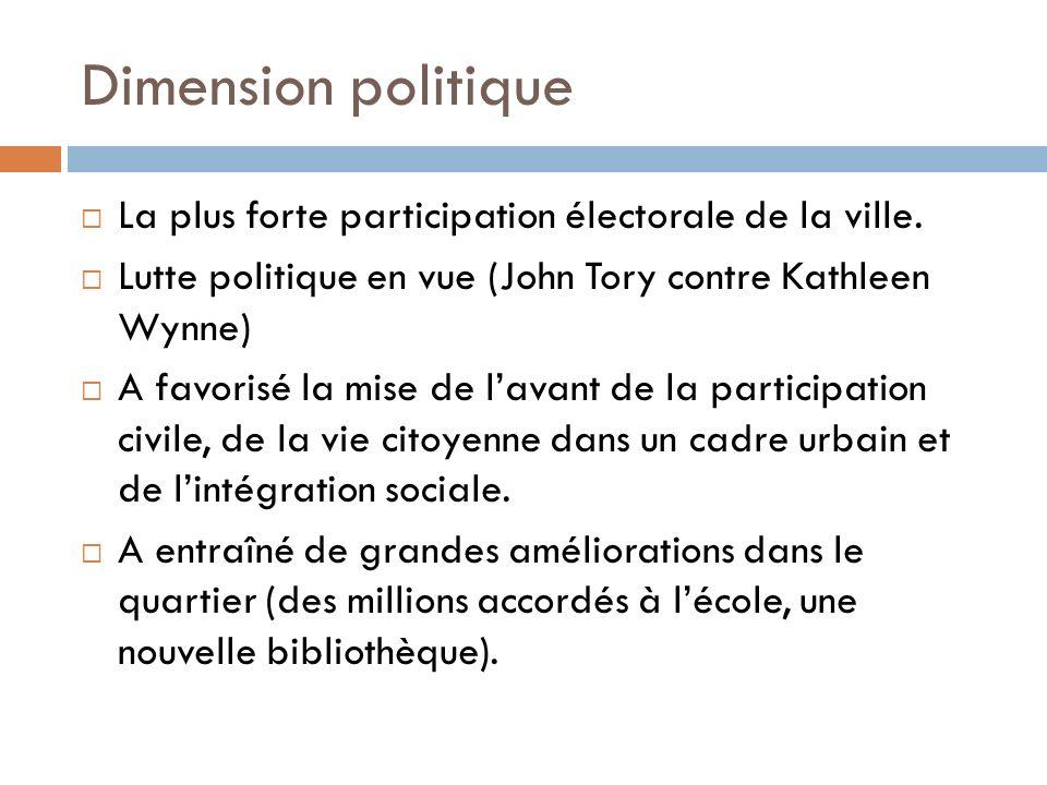 Dimension politique La plus forte participation électorale de la ville.