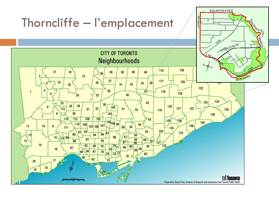 Thorncliffe – lemplacement