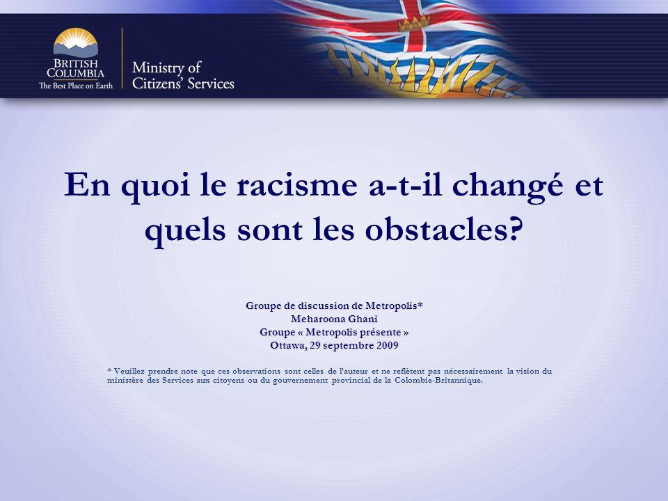 En quoi le racisme a-t-il changé et quels sont les obstacles.