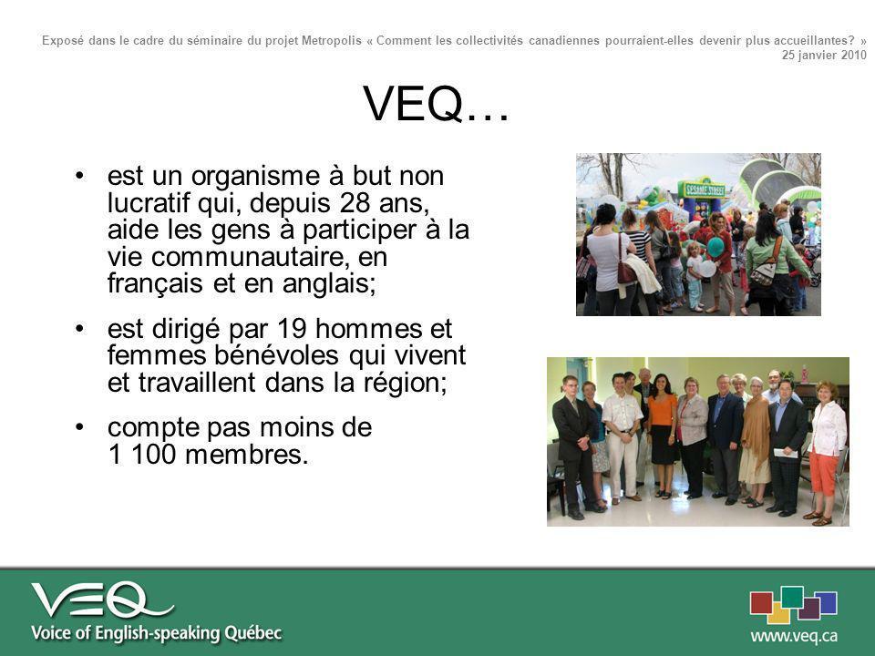 est un organisme à but non lucratif qui, depuis 28 ans, aide les gens à participer à la vie communautaire, en français et en anglais; est dirigé par 1
