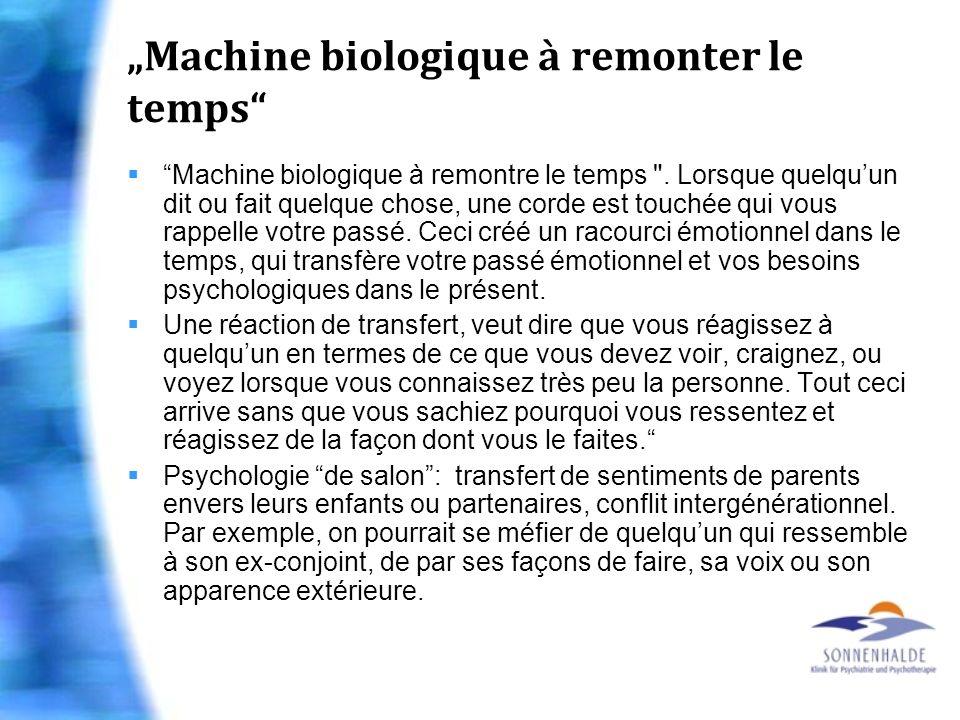 Machine biologique à remonter le temps Machine biologique à remontre le temps