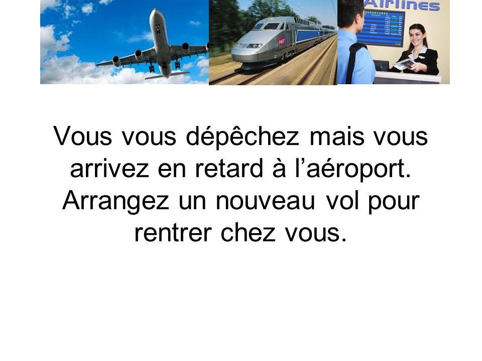 Vous êtes à la gare Montparnasse (à Paris).Vous voulez prendre le train pour aller à Rennes.