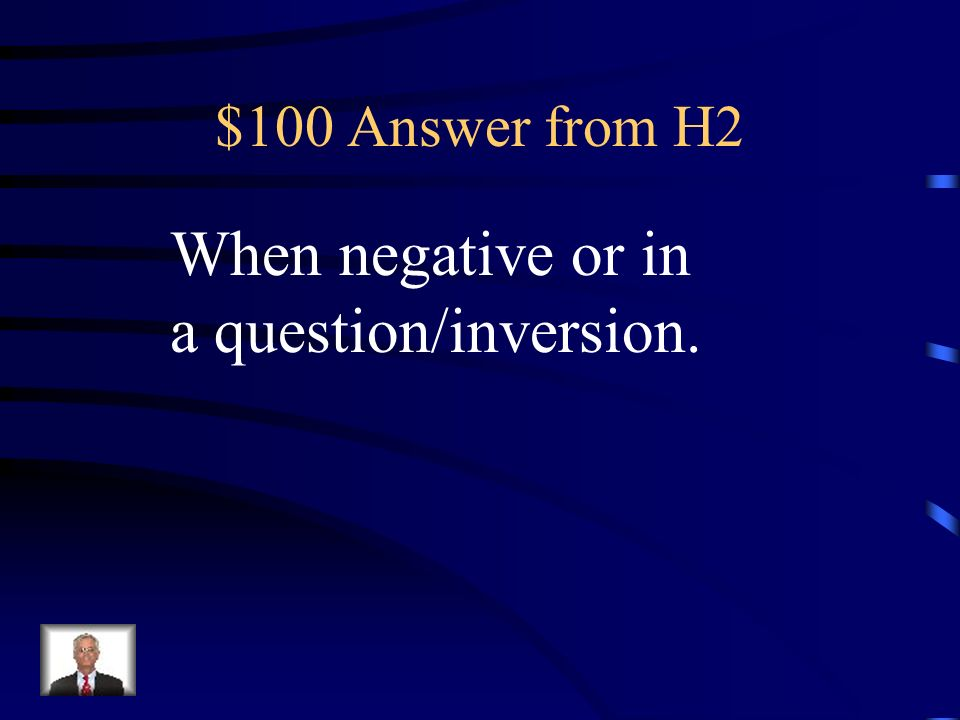 $100 Question from H2 When does an indicative expression use subjonctif?