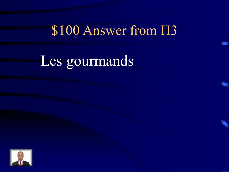 $100 Question from H3 Ceux qui adorent la nourriture…