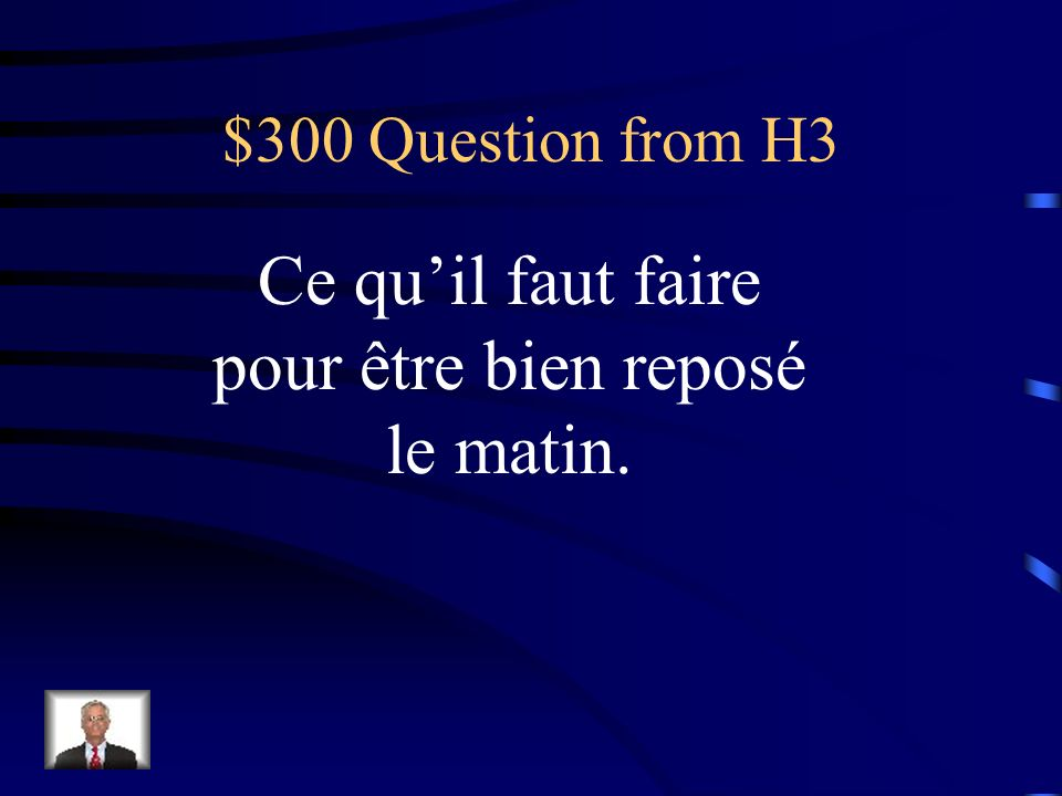 $200 Answer from H3 quotidien