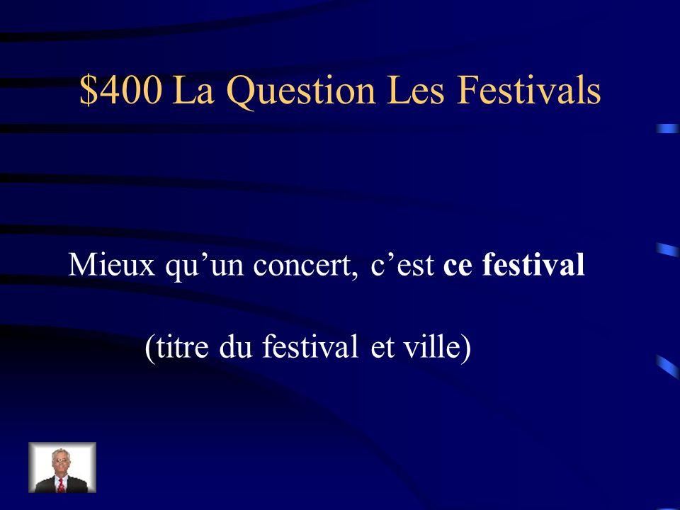 $300 La Réponse Les Festivals Des jongleurs et des mimes.