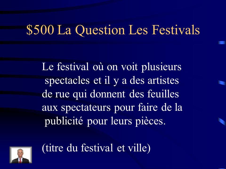 $400 La Réponse Les Festivals Le Festival de la Musique à Paris