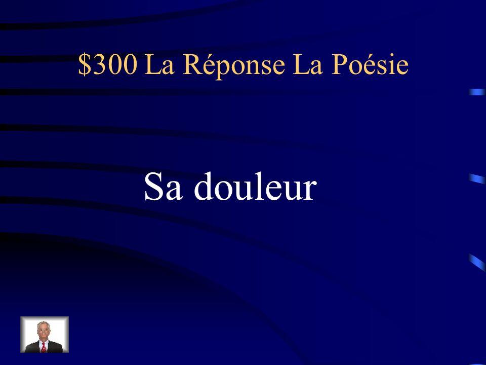 $300 La Question La Poésie Verlaine utilise lautomne pour symboliser quoi (mot de vocabulaire)