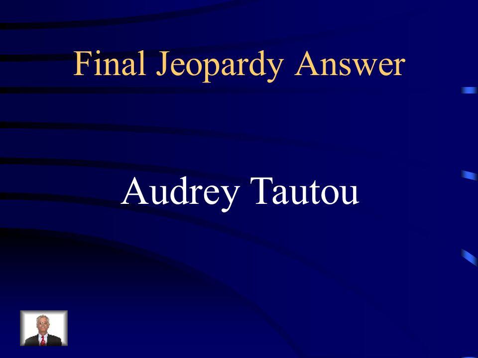 Final Jeopardy Qui est lactrice qui a fait la personnage de Coco Chanel