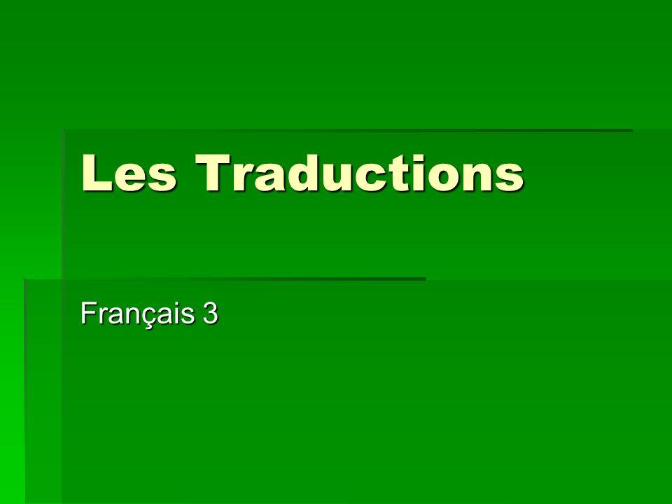 Les Traductions Français 3