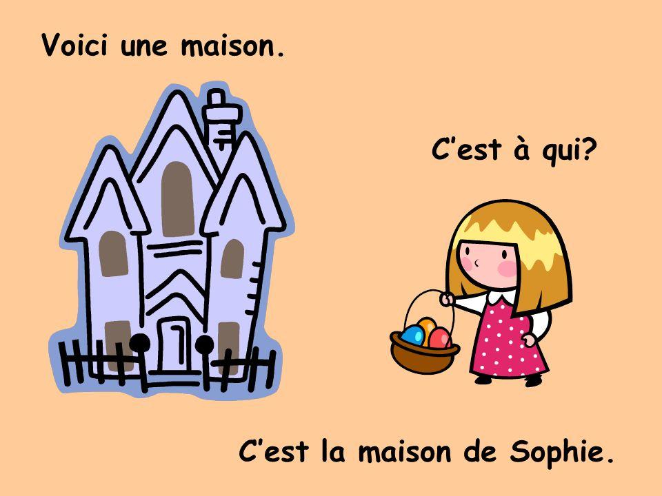 Voici une maison. Cest à qui Cest la maison de Sophie.