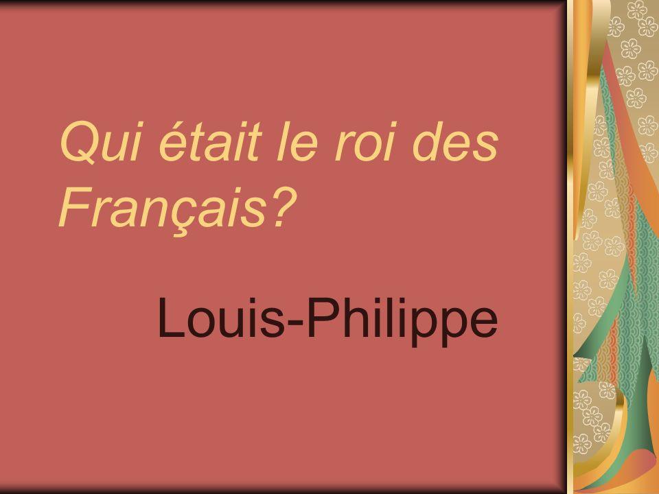 Qui était le roi des Français? Louis-Philippe