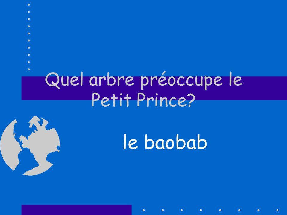 Quel arbre préoccupe le Petit Prince? le baobab