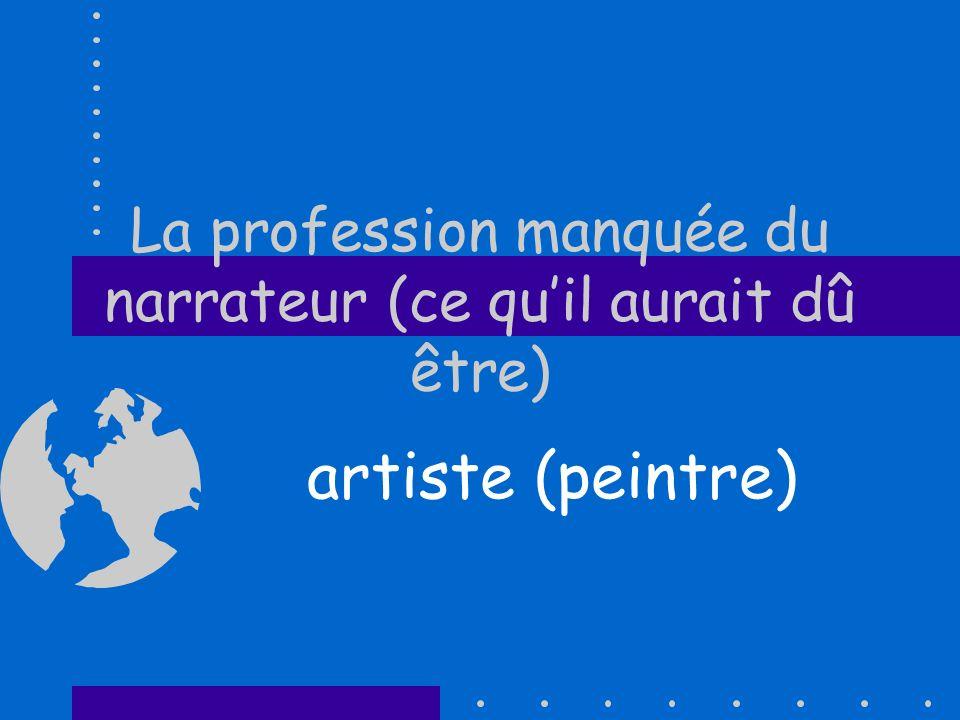 La profession manquée du narrateur (ce quil aurait dû être) artiste (peintre)
