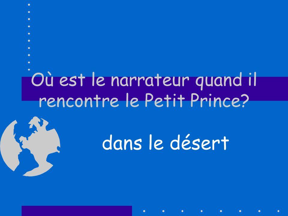 Où est le narrateur quand il rencontre le Petit Prince? dans le désert