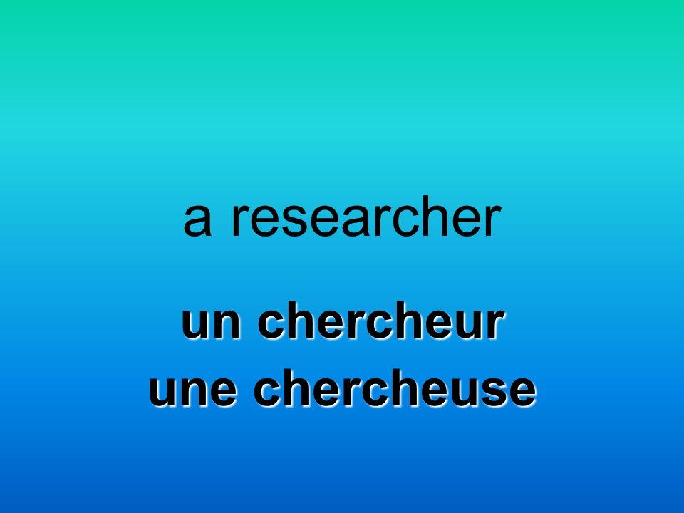 a researcher un chercheur une chercheuse