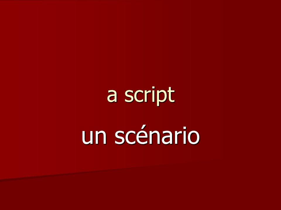 a script un scénario