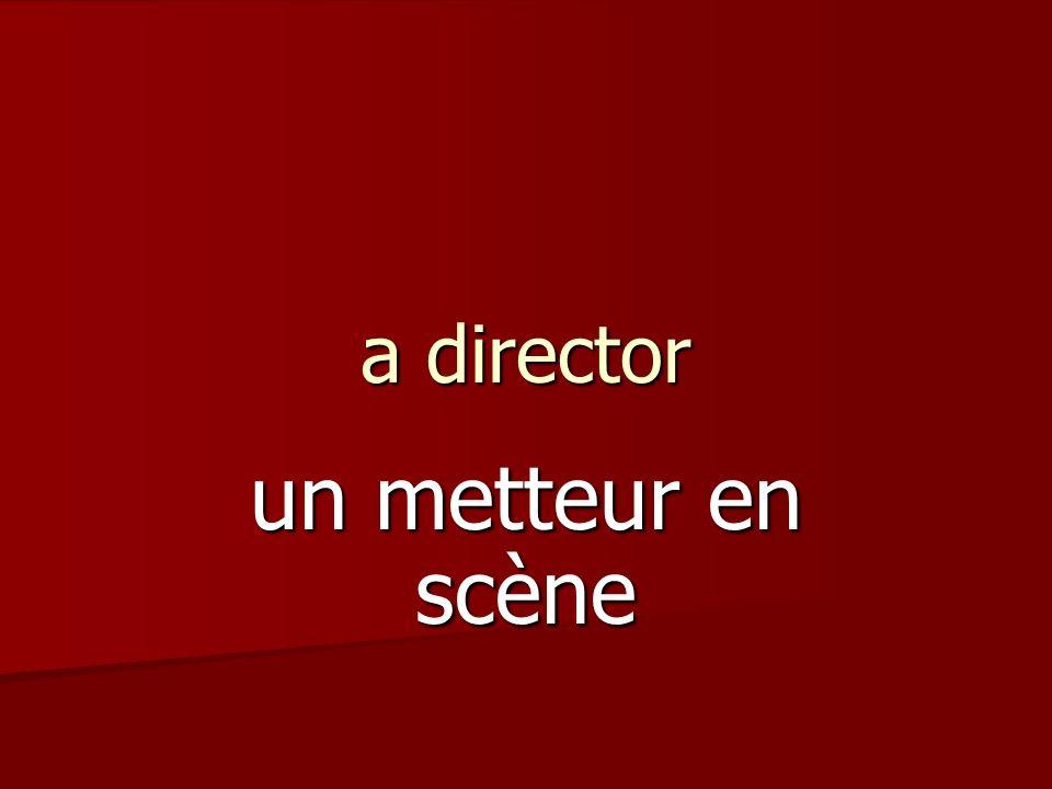 a director un metteur en scène