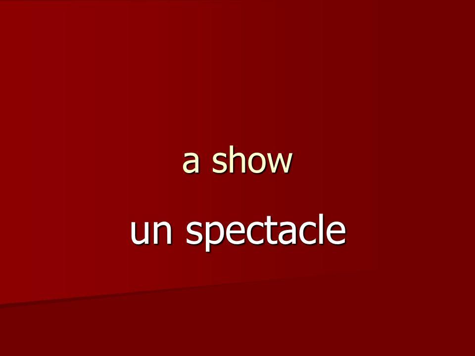 a show un spectacle