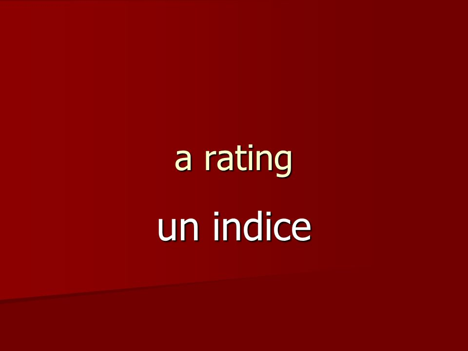 a rating un indice