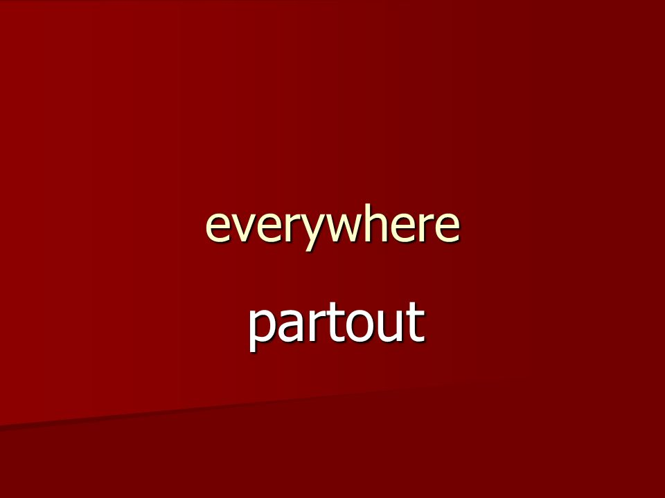 everywhere partout