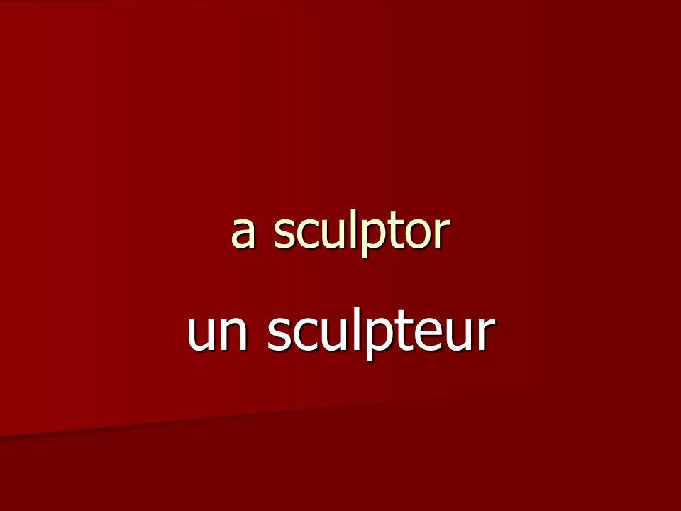 a sculptor un sculpteur