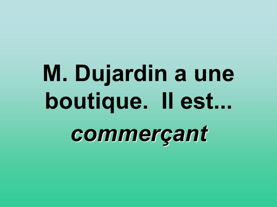 M. Dujardin a une boutique. Il est... commerçant