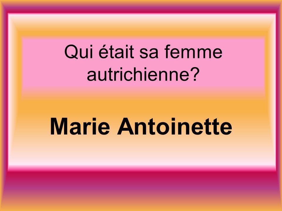 Qui était sa femme autrichienne Marie Antoinette