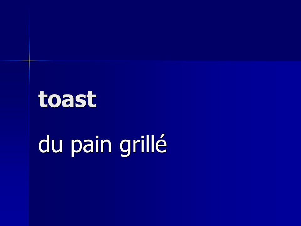 toast du pain grillé