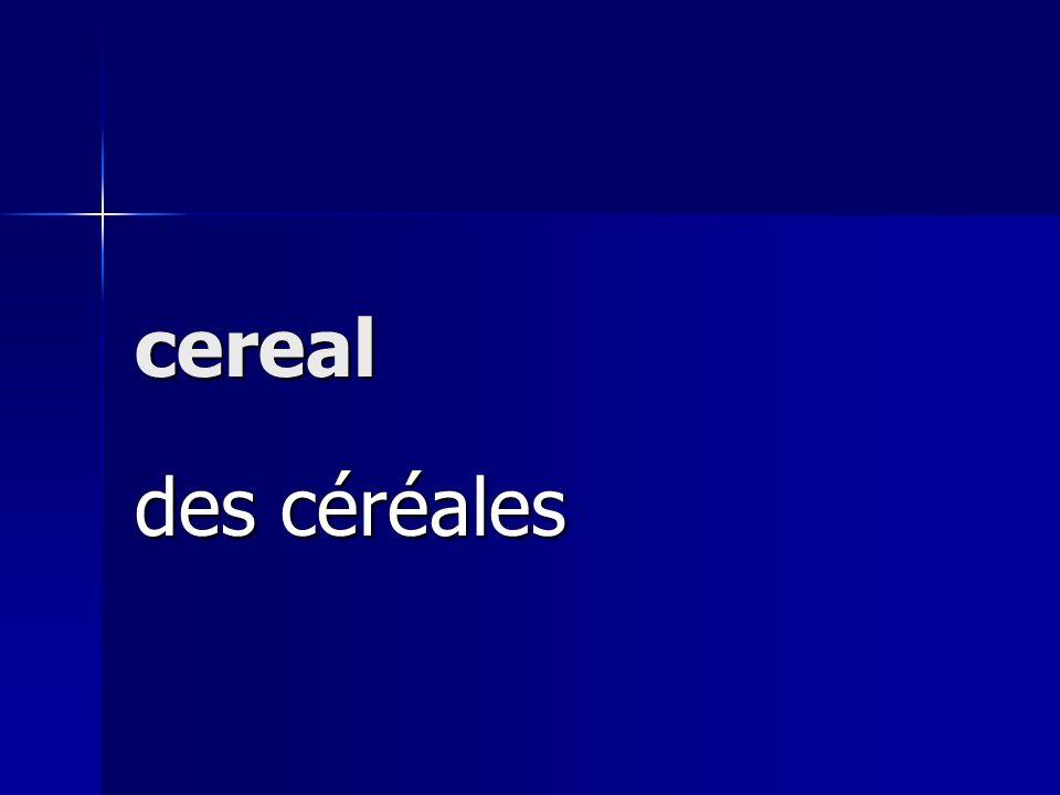 cereal des céréales