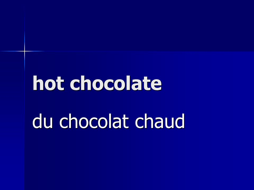 hot chocolate du chocolat chaud