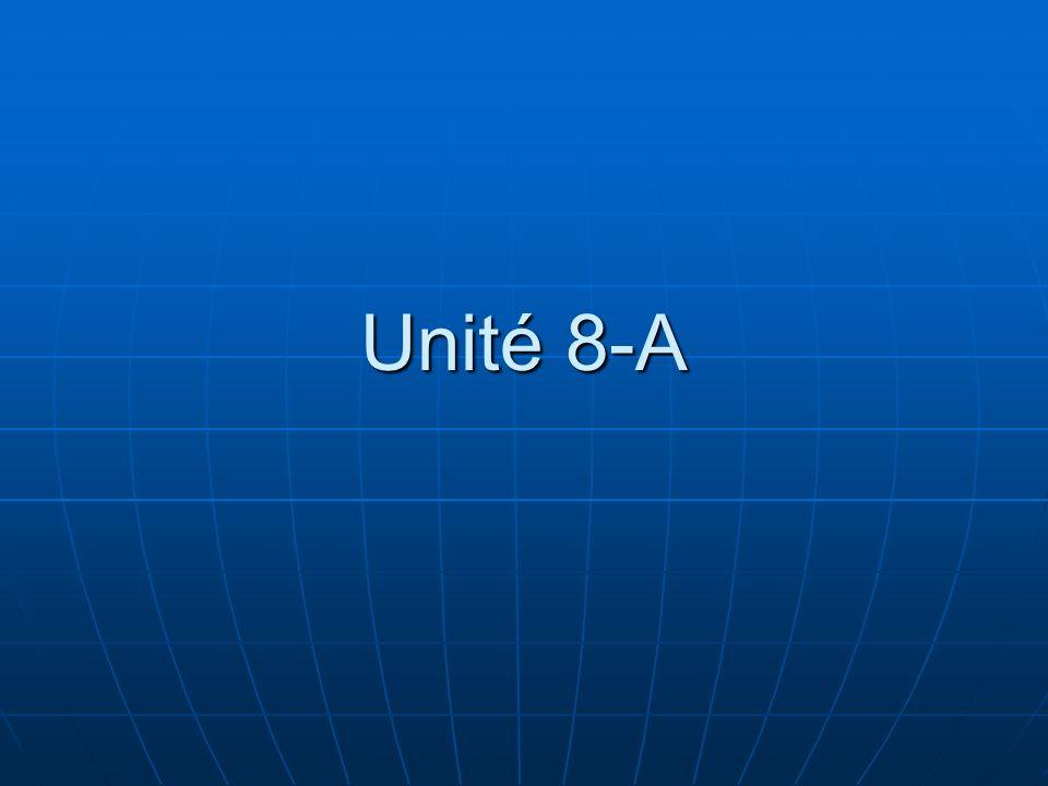 Unité 8-A