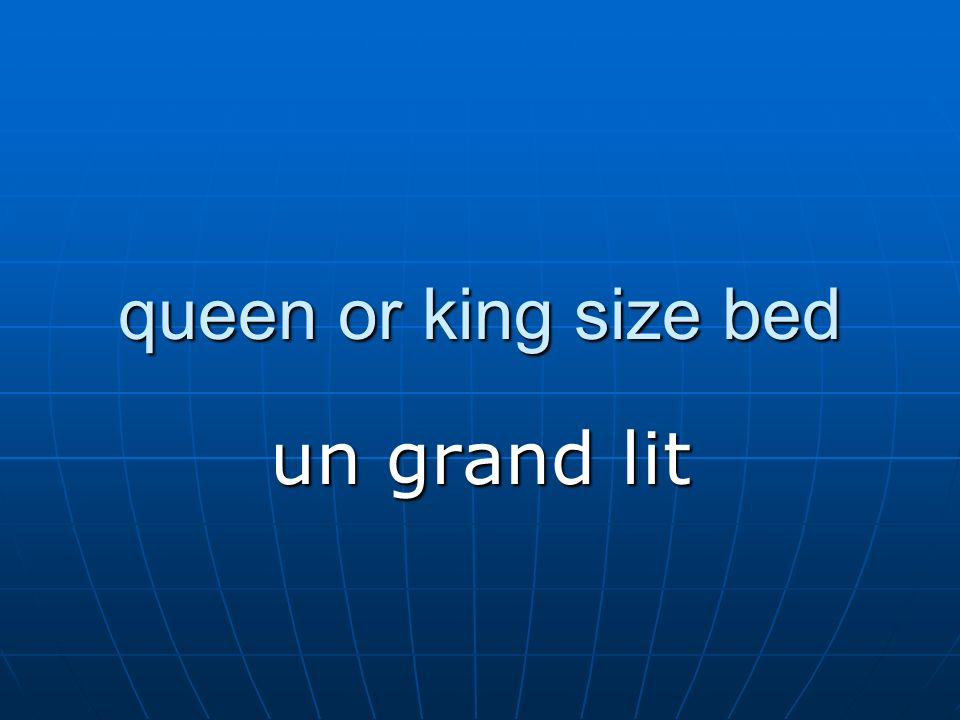 queen or king size bed un grand lit