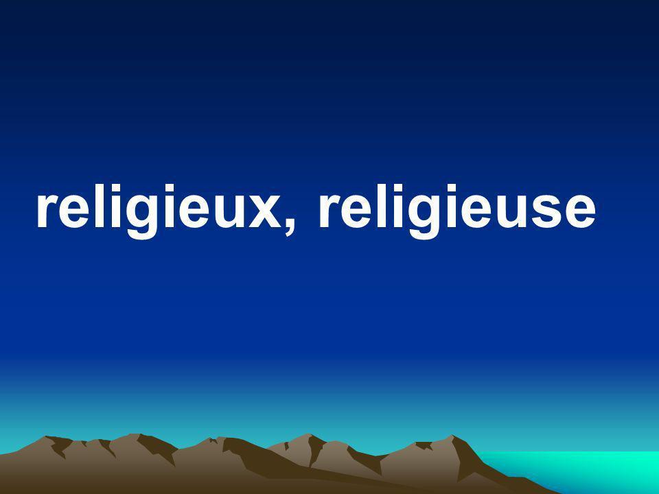 religieux, religieuse